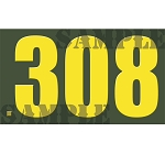 Ammo Can Sticker .308  - Yellow Standard .50Cal