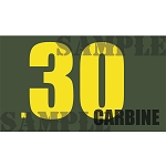Ammo Can Magnet .30 CARBINE  - Yellow Standard .50Cal