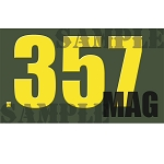 Ammo Can Sticker .357 MAG - Yellow Standard .50Cal