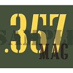 Ammo Can Magnet .357MAG - Yellow Stencil .30Cal
