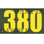 Ammo Can Magnet .380  - Yellow Standard .50Cal