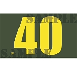 Ammo Can Sticker .40 - Yellow Standard .50Cal