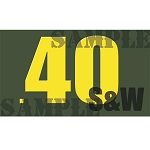 Ammo Can Magnet .40 S&W  - Yellow Standard .50Cal