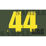 Ammo Can Sticker .44MAG - Yellow Standard .50Cal