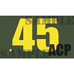 Ammo Can Magnet .45ACP  - Yellow Standard .50Cal