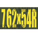 Ammo Can Magnet 7.62X54R - Yellow Standard .50Cal
