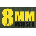 Ammo Can Magnet 8MM MAUSER - Yellow Standard .50Cal
