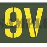 Ammo Can Sticker 9V - Yellow Stencil .30Cal
