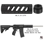 ATI AR-15 Aluminum 6-Sided Carbine Length Free-Float Forend with Slotted Barrel Nut