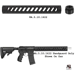 ATI AR-15 Aluminum 6-Sided 15 Inch Free Float Forend with Slotted Barrel Nut