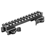 Lion Gears Tactical Quick Release Picatinny/Weaver 0.75 Inch Riser, 5 Inch Long with 12 Slots