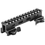 Lion Gears Tactical Quick Release Picatinny / Weaver 1 Inch High 5 Inch Long Riser with 12 Slots