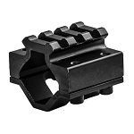 Lion Gears Low Profile 3 Slots Barrel Mount for Dia. 22mm-25mm Shotgun Barrel or Other Heavy Barrel