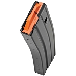 Duramag AR-15 Black Aluminum 30 Round Mag w/Orange Follower -Restricted Item -Check Your Local and State Laws Prior To Ordering