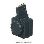 Promag AR-308 .308 50 Round Black Polymer Drum - Restricted Item -Check Your Local and State Laws Prior To Ordering