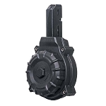 Promag AR-15 9mm Colt® / SMG Type 50 Round Black Polymer Drum - Restricted Item -Check Your Local and State Laws Prior To Ordering