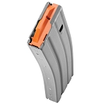 Duramag AR-15 Grey Aluminum 30 Round Mag w/Orange Follower -Restricted Item -Check Your Local and State Laws Prior To Ordering
