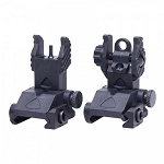 Guntec AR-15 EZ Sights Thin Profile Polymer Back Up Iron Sight Set - Same Plane (Rail Height)