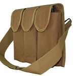 Galati Gear Shoulder Magazine Pouch with Belt Loop Holds AK-47 30rds Banana Clips, 40rds .223 and 30rds .308 Magazines, Coyote Brown