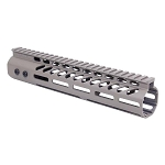 GunTec 10 Inch Ultra Lightweight Thin M-LOK Free Floating Handguard With Monolithic Top Rail .308 Cal - Flat Dark Earth