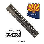 GunTec 12 Inch Ultra Lightweight Thin Key Mod Free Floating Handguard With Monolithic Top Rail