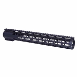 GunTec AR .308 15 Inch Air-Lok Series Compression Free Floating Handguard With Monolithic Top Rail .308 Cal Anodized Black