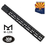GunTec 16.5 Inch Ultra Lightweight Thin M-Lok Free Floating Handguard With Monolithic Top Rail - .308 Cal