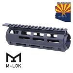 GunTec AR-15 Aluminum Carbine Length Drop In M-LOK Handguard With Monolithic Top Rail