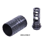 AR-15 9mm Hellfire Muzzle Compensator With QD Blast Shield – Gen 2