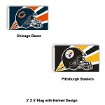 NFL Licensed 3'X5' Helmet Design Flag