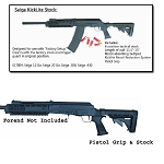 Saiga KickLite Recoil Reducing Tactical Stock, Pistol Grip, and Recoil Pad
