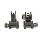 GunTec Folding Iron Sight Set With QD Knobs