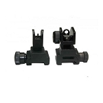 GunTec AR-15 Folding Iron Sight Set With QD Knobs