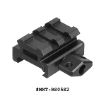 UTG Low-Profile Super Compact Riser Mount, 0.5 Inch High, 2 Slots