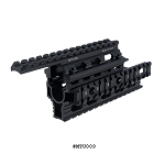 UTG PRO Universal AK-47 Quad Rail Handguard - Fits Romanian, Bulgarian, Chinese and US AKs and Variants Including Models with Oversized Barrel/Rear Sight Block
