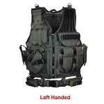 UTG 547 Law Enforcement Tactical Vest, Left Handed Black
