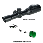 UTG 1-4X28 30mm Long Eye Relief Scope, 36-color Circle Dot w/Rings