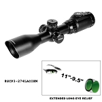 UTG 2-7X44 30mm Long Eye Relief Scout Scope AO, 36-color w/Rings