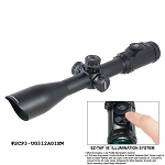 UTG 3-12X44 30mm Scope, AO, 36-color Glass Mil-dot, w/ Rings