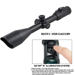 UTG 4-16X56 30mm Scope, AO 36-color Glass Mil-dot  w/ Rings