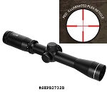 NcStar 2-7 X 32 Red Illuminated Long Eye Relief Scope w/Rings