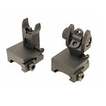 GunTec AR-15 Thin Profile Back Up Iron Sight Set - Rail Height
