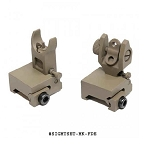 GunTec AR-15 Thin Profile Back Up Iron Sight Set - Rail Height Flat Dark Earth