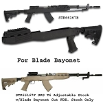 SKS T6 Adjustable Stock w/Blade Bayonet Cut