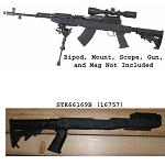 Tapco Fusion SKS Rifle Stock Set With Rail- Black (For Guns With No Bayonet)