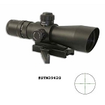 NcStar 3-9X42 Red/Green Illuminated Mil Dot Scope With Quick Release Weaver Mount