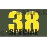 Ammo Can Sticker .38 Special - Yellow Standard .50Cal