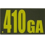 Ammo Can Sticker .410GA - Yellow Standard .50Cal