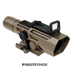 NcStar ADO 3-9X42 Scope w/Flip Up Red Dot Optic-Tan
