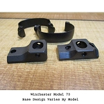 S&K Winchester SKulptured Scope Mount Bases With 1 Inch Smooth Kontoured Scope Rings